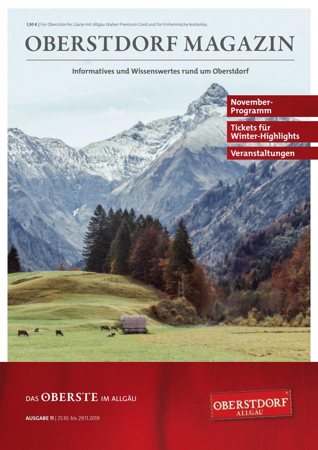 Oberstdorf Magazin 112019 by Tourismus Oberstdorf issuu