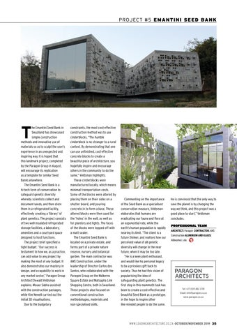 Page 35 of Cinderblock construction showcased at Emantini Seed Bank