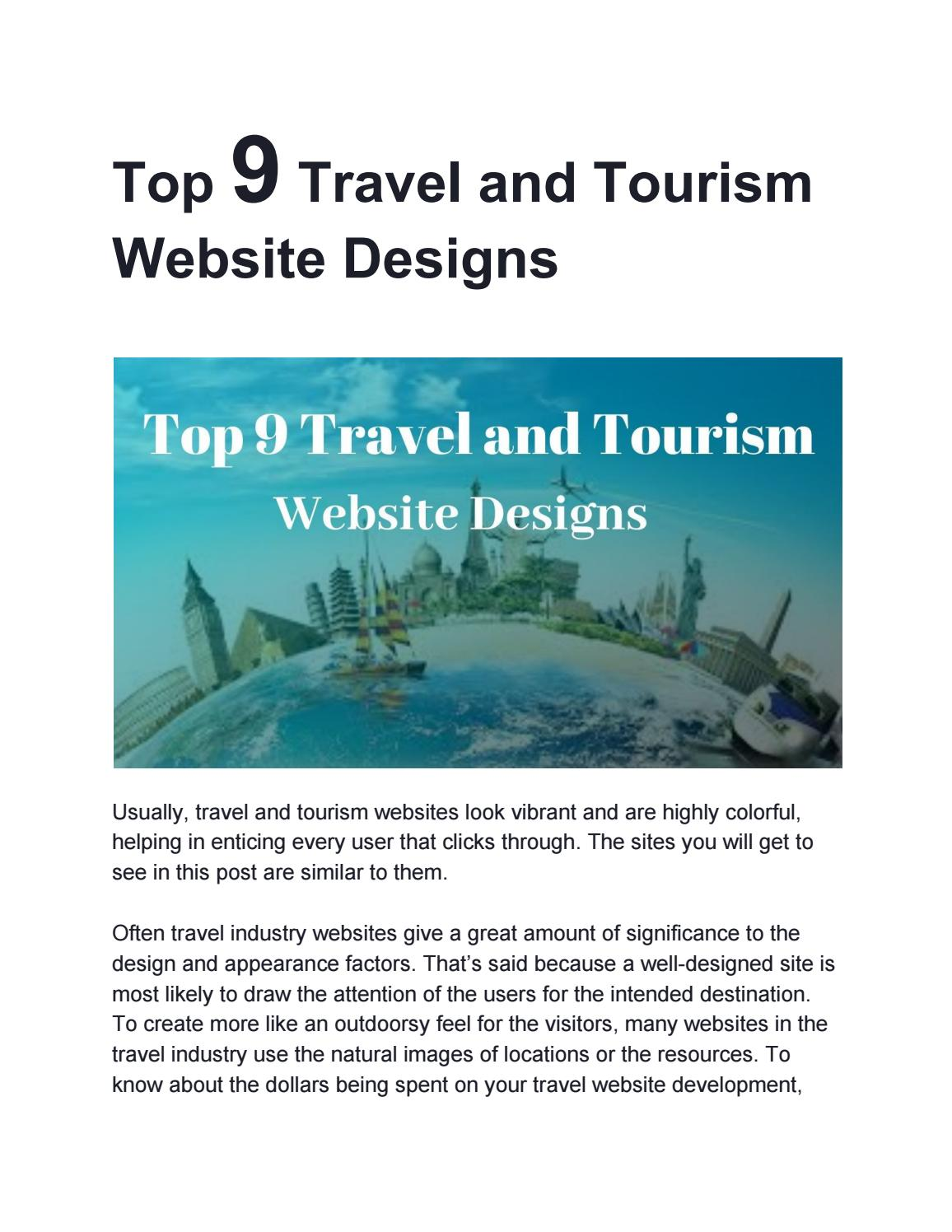 Top 9 Travel And Tourism Website Designs By Lawebsitedesign Issuu