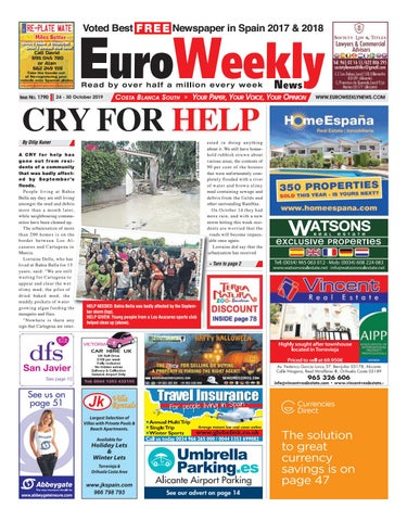 Prime Euro Weekly News Costa Blanca South 24 30 October 2019 Cjindustries Chair Design For Home Cjindustriesco