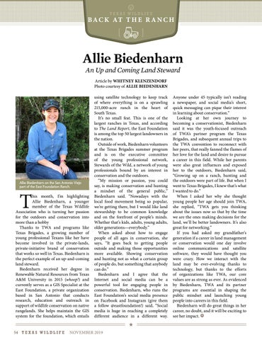 Page 54 of Allie Biedenharn, An Up and Coming Land Steward