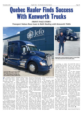 Page 59 of Quebec Hauler Finds Success With Kenworth Trucks