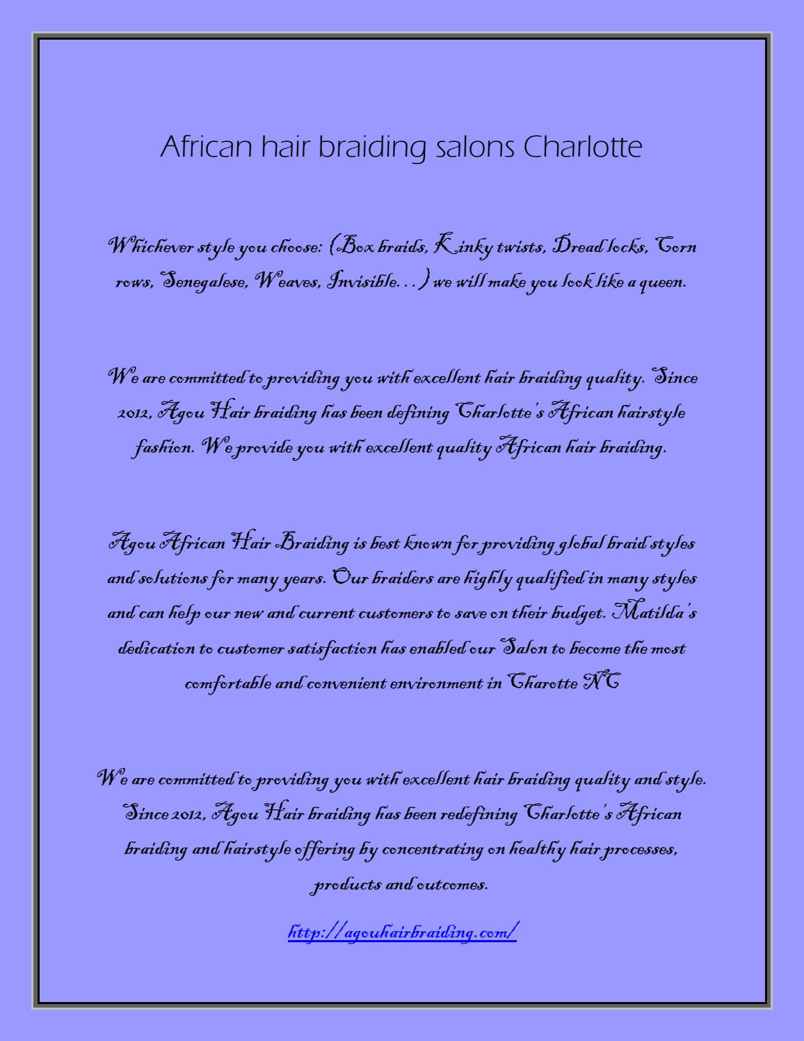 Children Hair Braiding Salon Charlotte By Agou Boutique Issuu