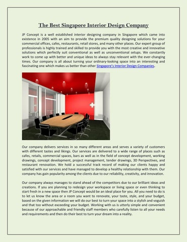 The Best Singapore Interior Design Company By Jp Concept Issuu
