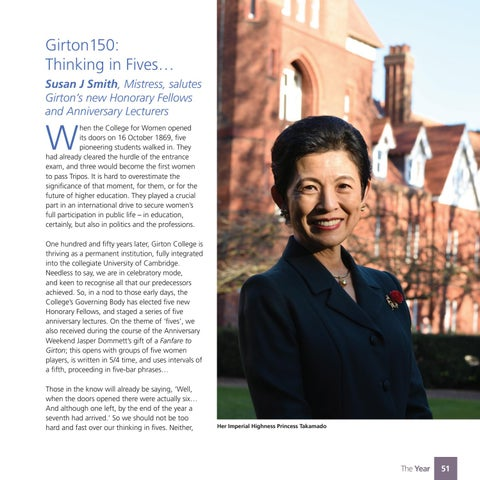 Page 53 of Girton150: Honorary Fellows and Anniversary Lectures