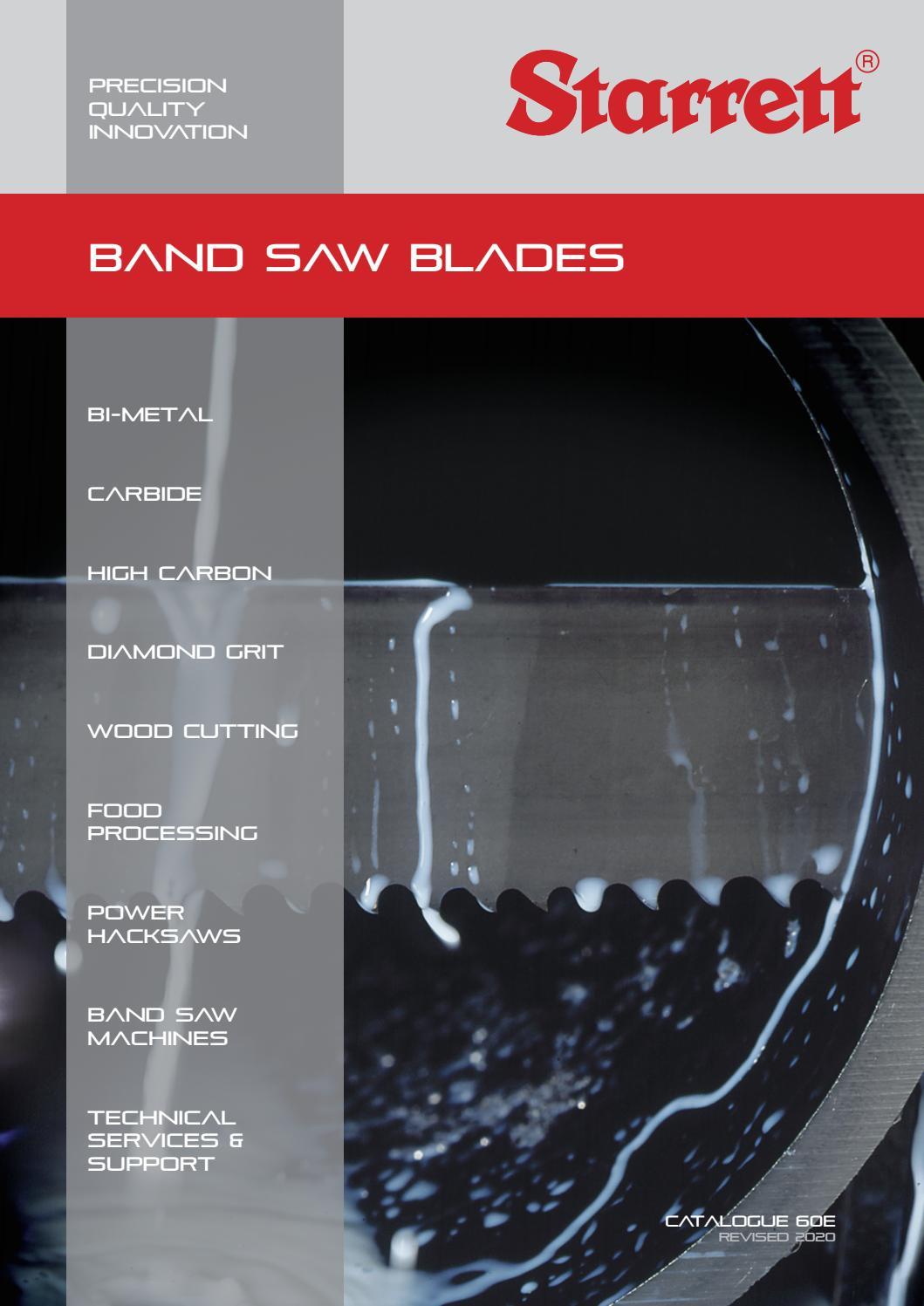 """NEW STARRETT 10/' X 3//8/"""" X .025/"""" BANDSAW BLADE 1000B"""