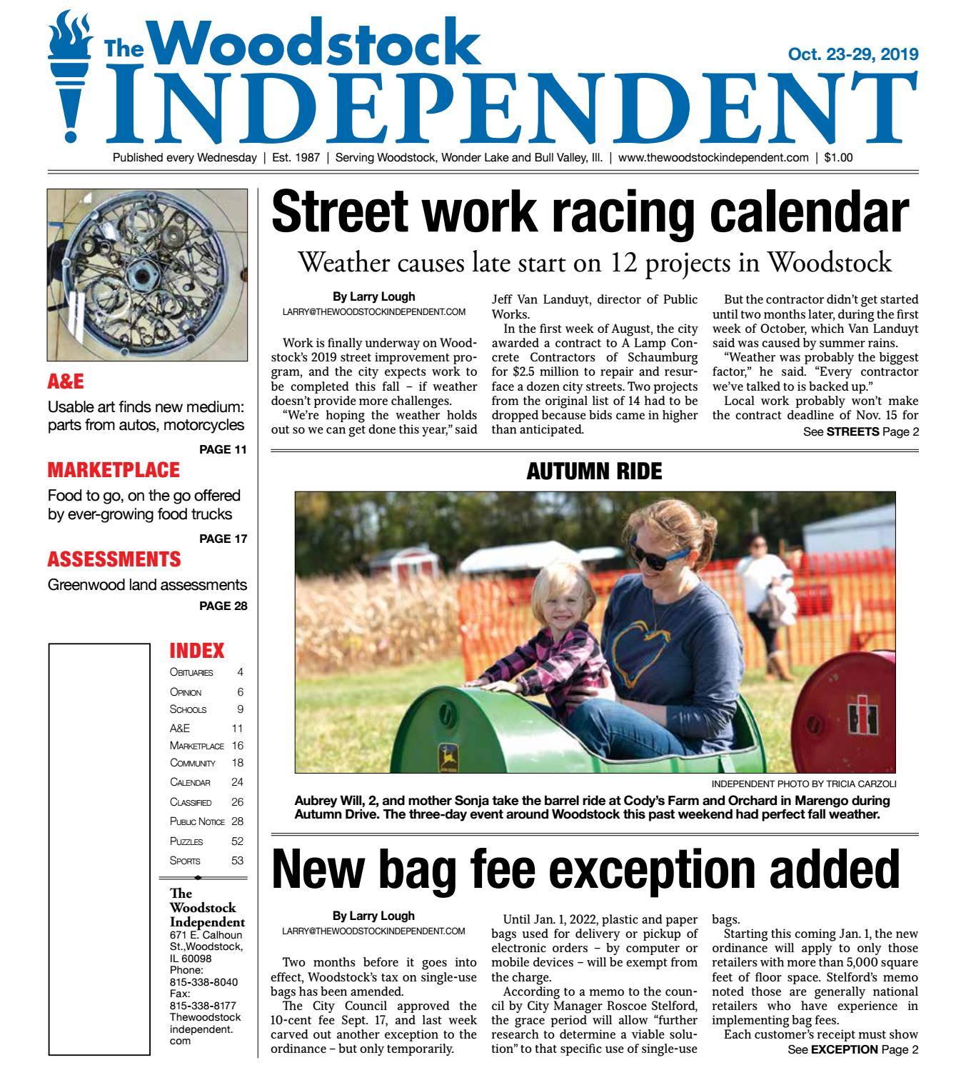 Woodstock Independent 10 23 19 By Woodstock Independent Issuu