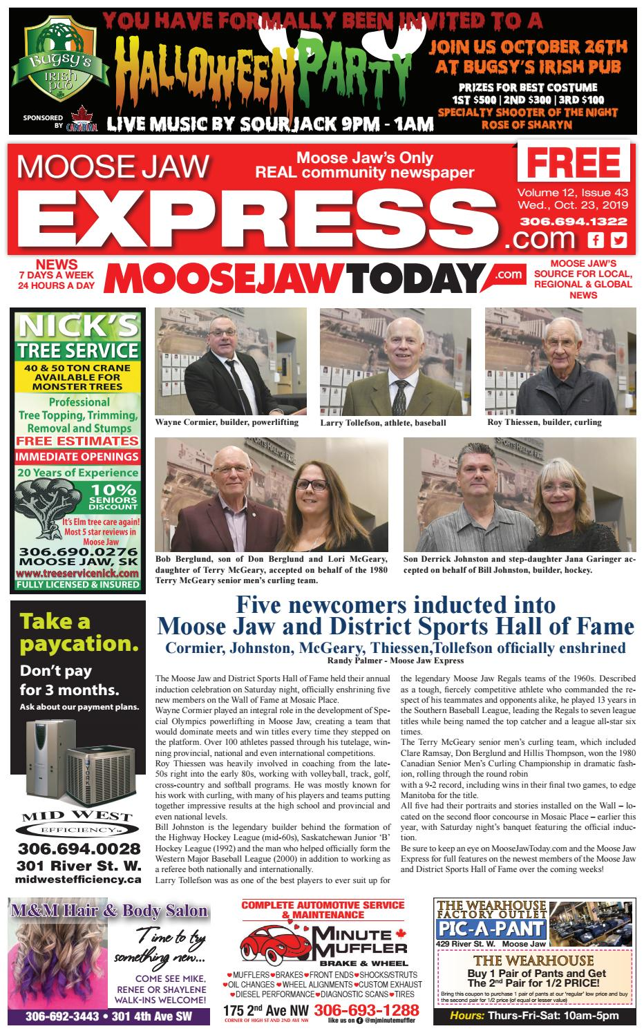 Moose Jaw Express October 23rd 2019 By Moose Jaw Express Issuu