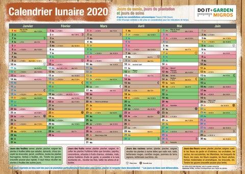 Do it + Garden Calendrier lunaire 2020 by Migros   issuu