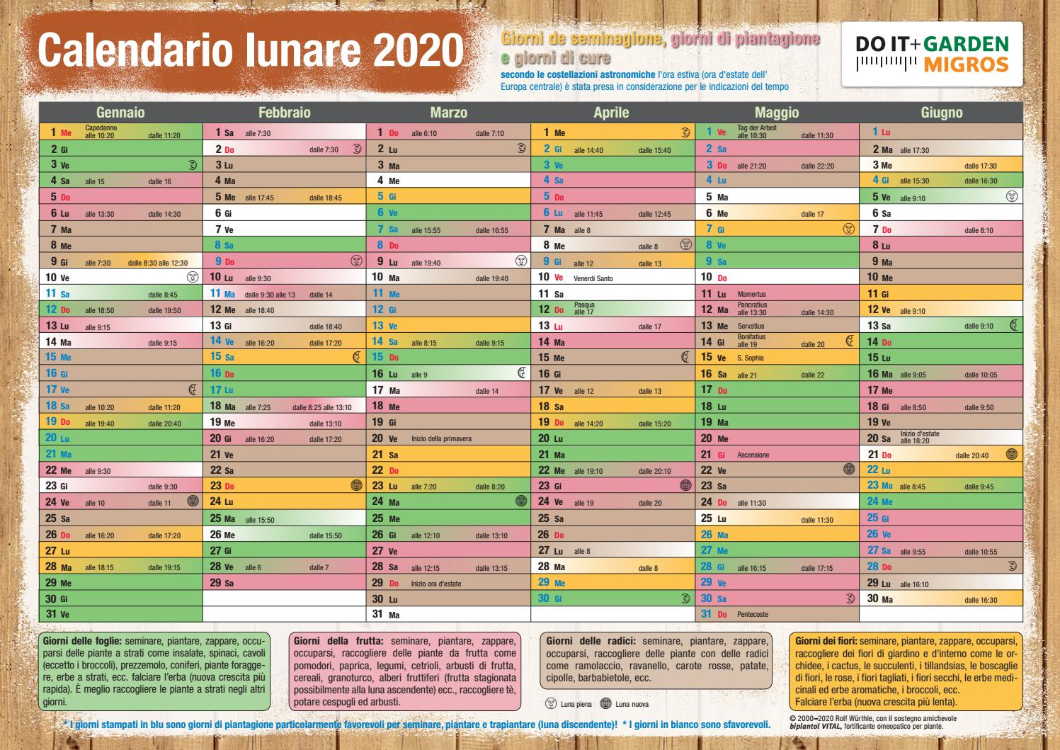 Do it + Garden Calendario lunare 2020 by Migros   issuu