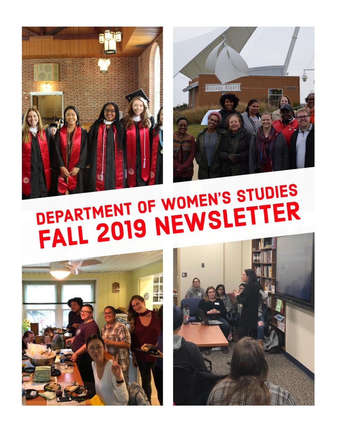 Umd Academic Calendar Fall 2020.Umd Department Of Women S Studies 2019 Fall Newsletter By