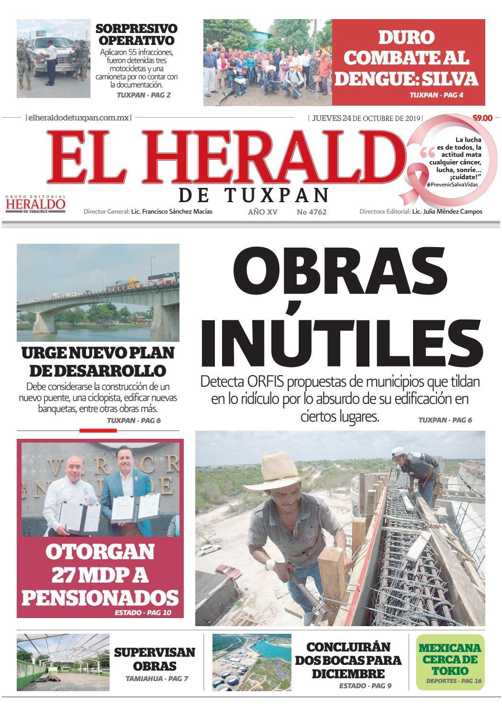 El Heraldo De Tuxpan 24 De Octubre De 2019 By Poza Acme Issuu