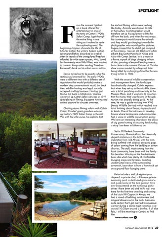Page 51 of Cottar's Celebrates 100 Years in Kenya