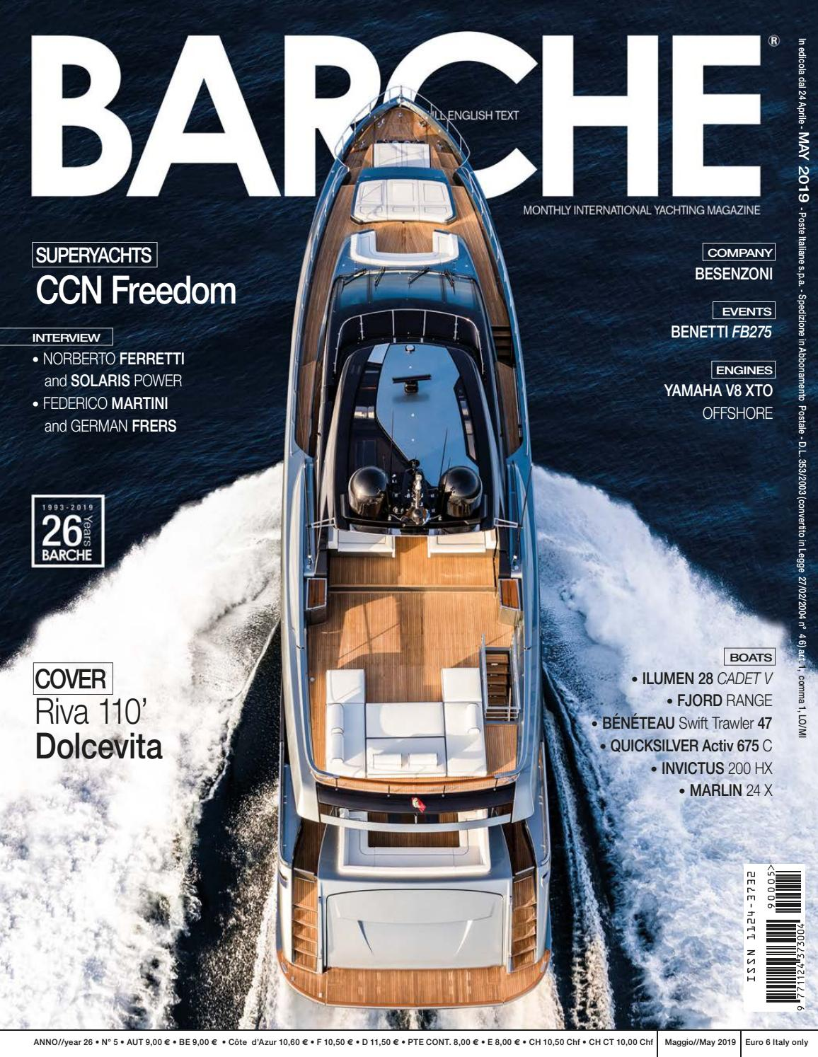 BARCHE MAY 2019 by INTERNATIONAL SEA PRESS SRL BARCHE issuu