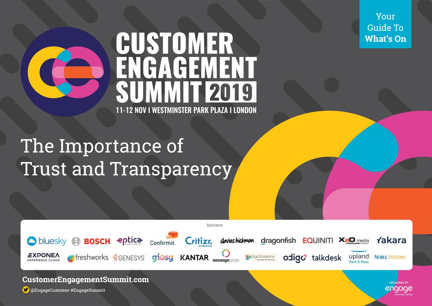 2019 Customer Engagement Summit Preview Guide By Engage