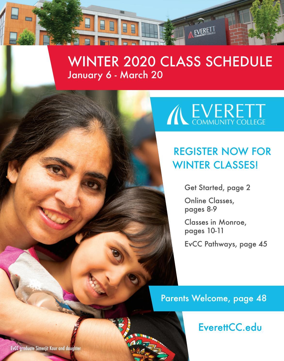 Winter 2020 Classes.Winter 2020 Class Schedule By Everett Community College Issuu