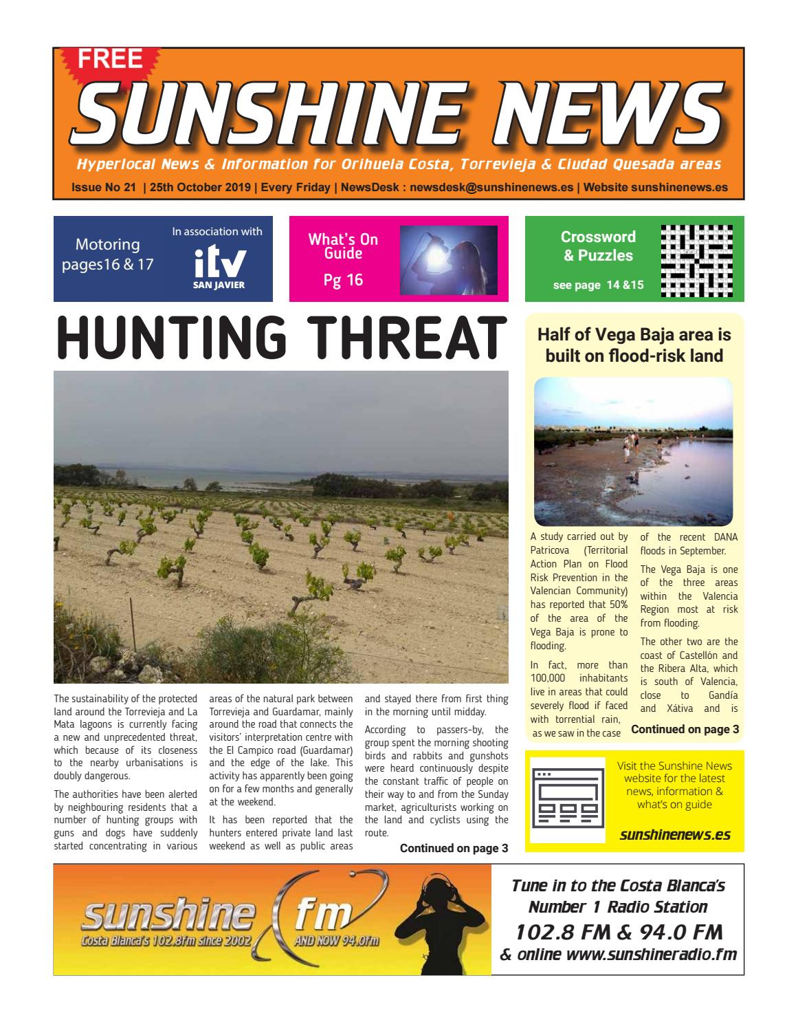 Sunshine News Issue 21 25 October 2019 By Sunshine News