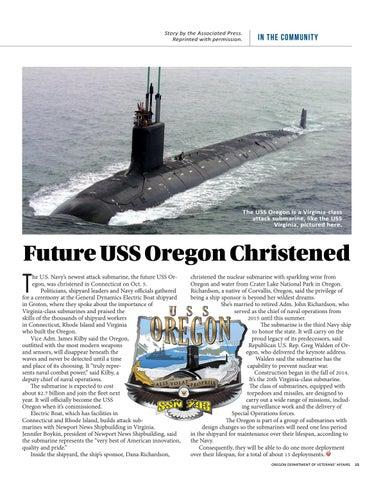 Page 15 of Future USS Oregon Christened
