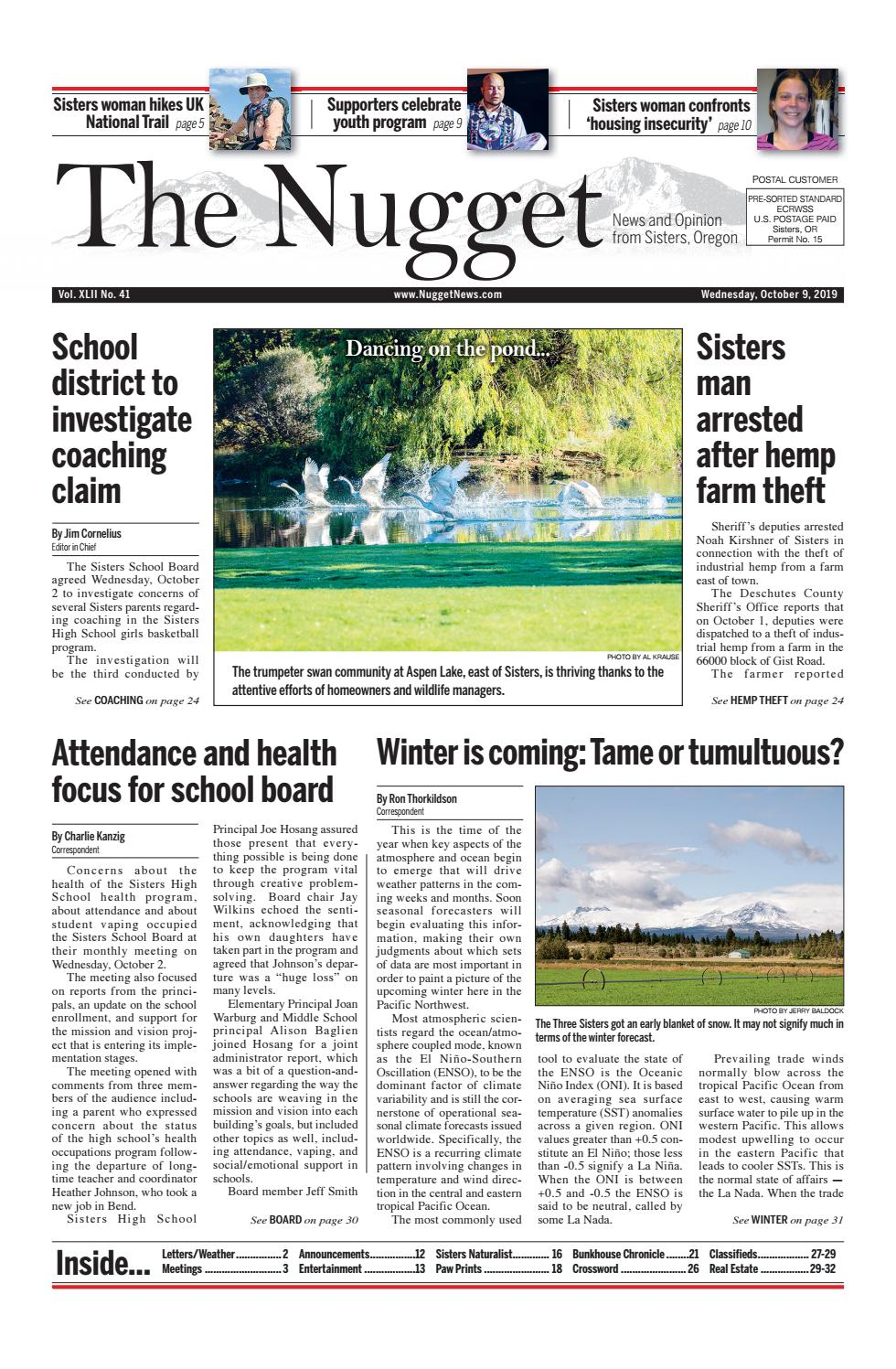 The Nugget Newspaper Vol. XLII No. 41 2019 10 09 by