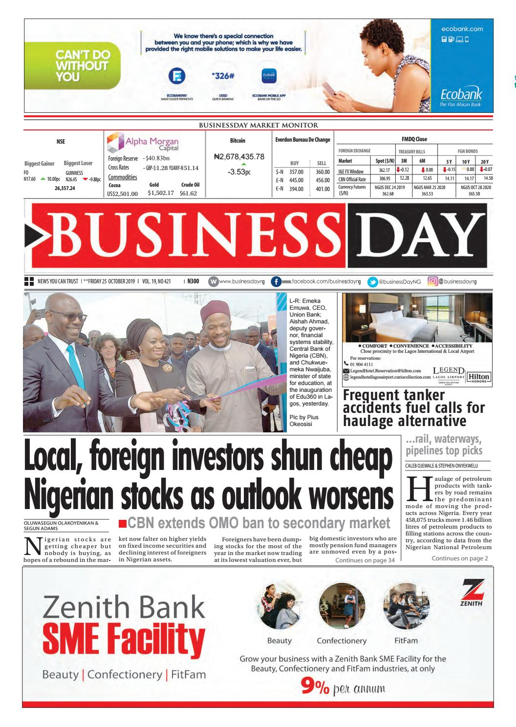 BusinessDay 25 Oct 2019 by BusinessDay issuu