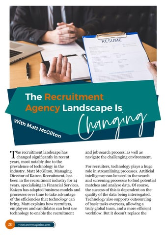 Page 20 of The recruitment agency landscape is changing!