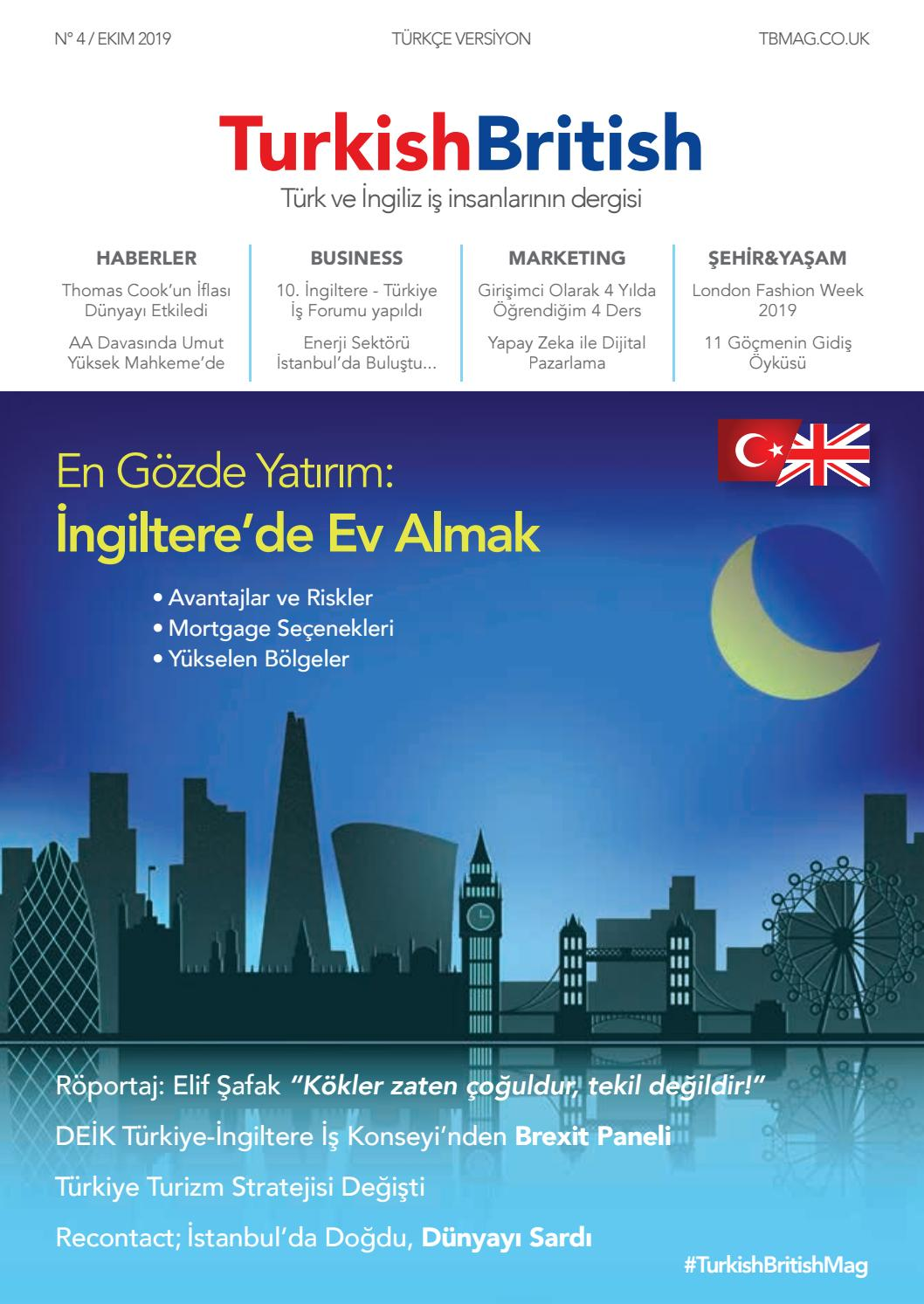 Turkish British Magazin 4 Sayi Ekim 2019 Turkce Versiyon By Afs