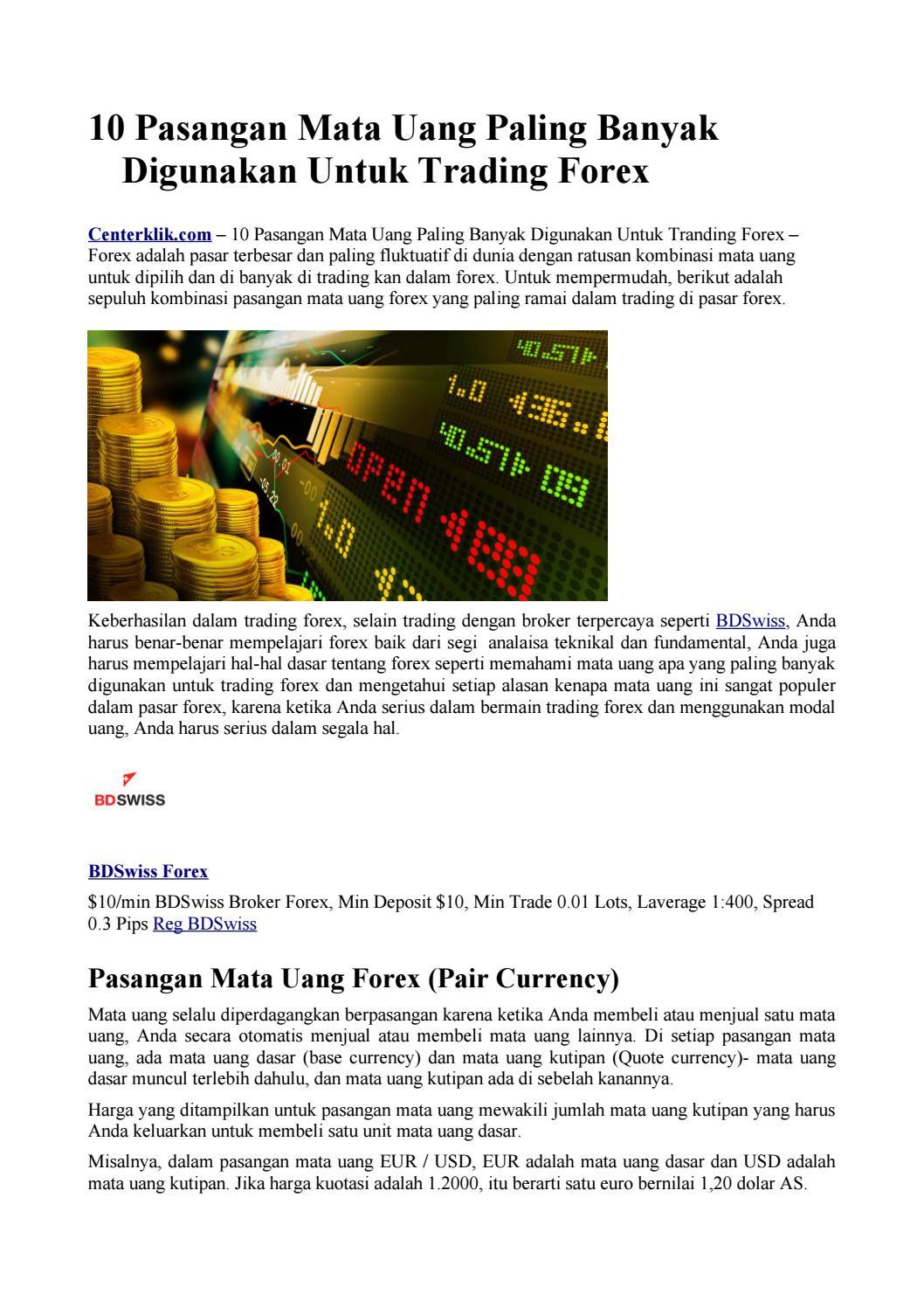 Transaksi Dalam Forex Trading