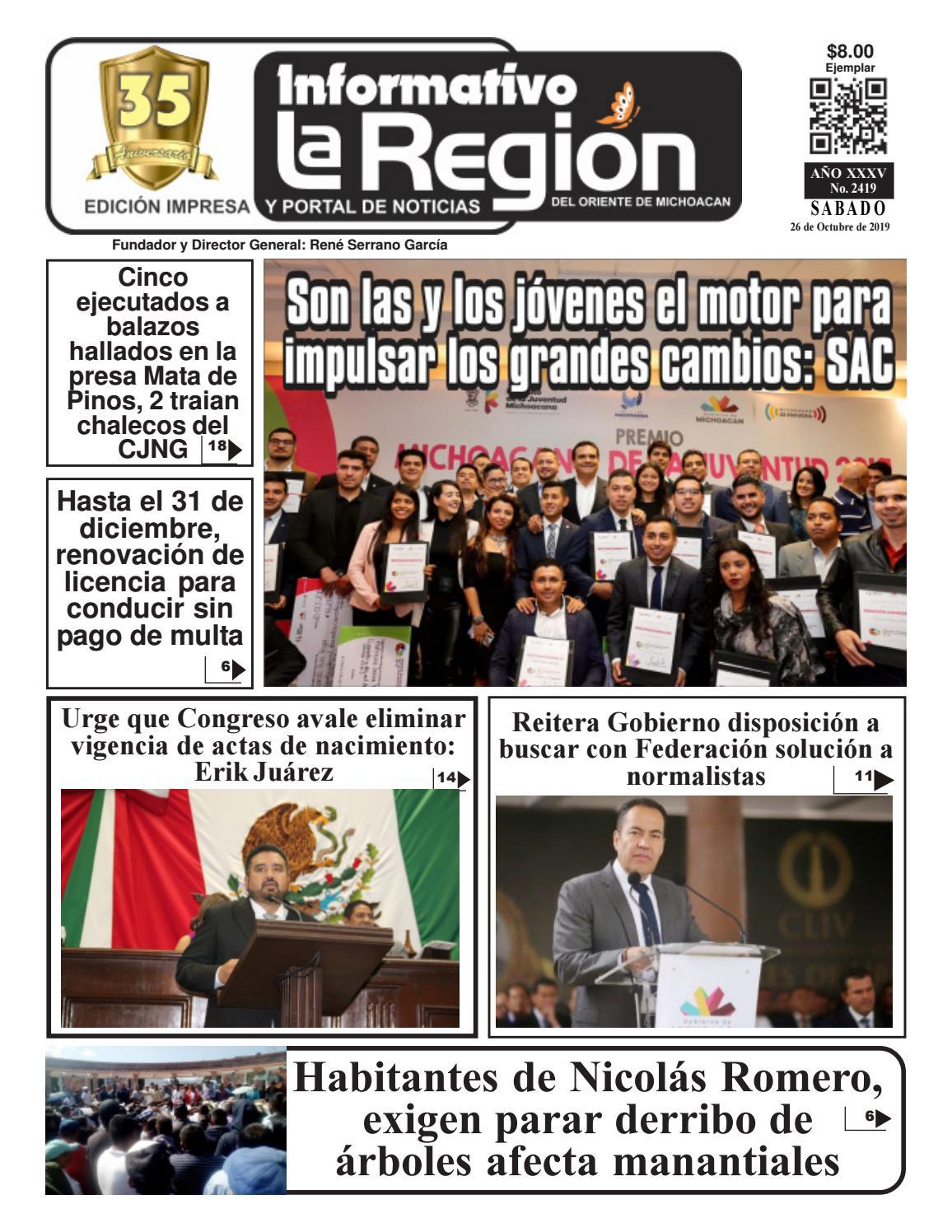 Informativo Laregión 2419 26 Octubre 2018 By Informativo