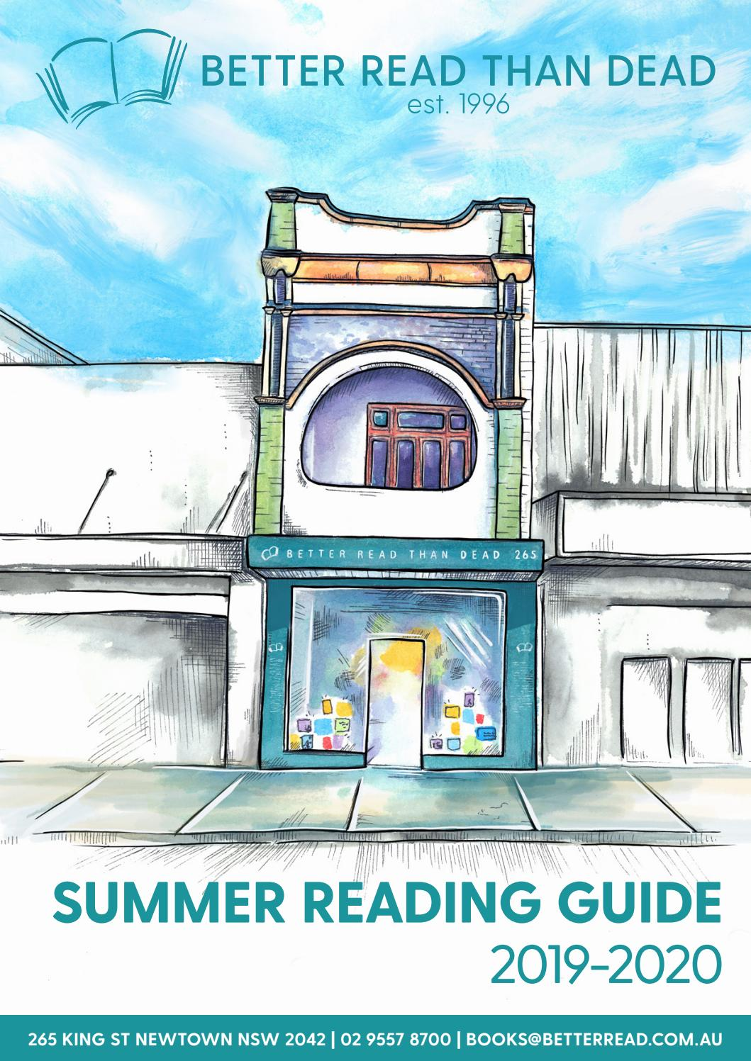 Better Read Than Dead Summer Reading Guide 2019-2020 by