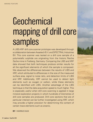 Page 32 of Geochemical mapping of drill core samples