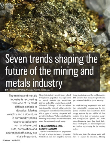 Page 40 of Seven trends shaping the future of mining in the metals industry