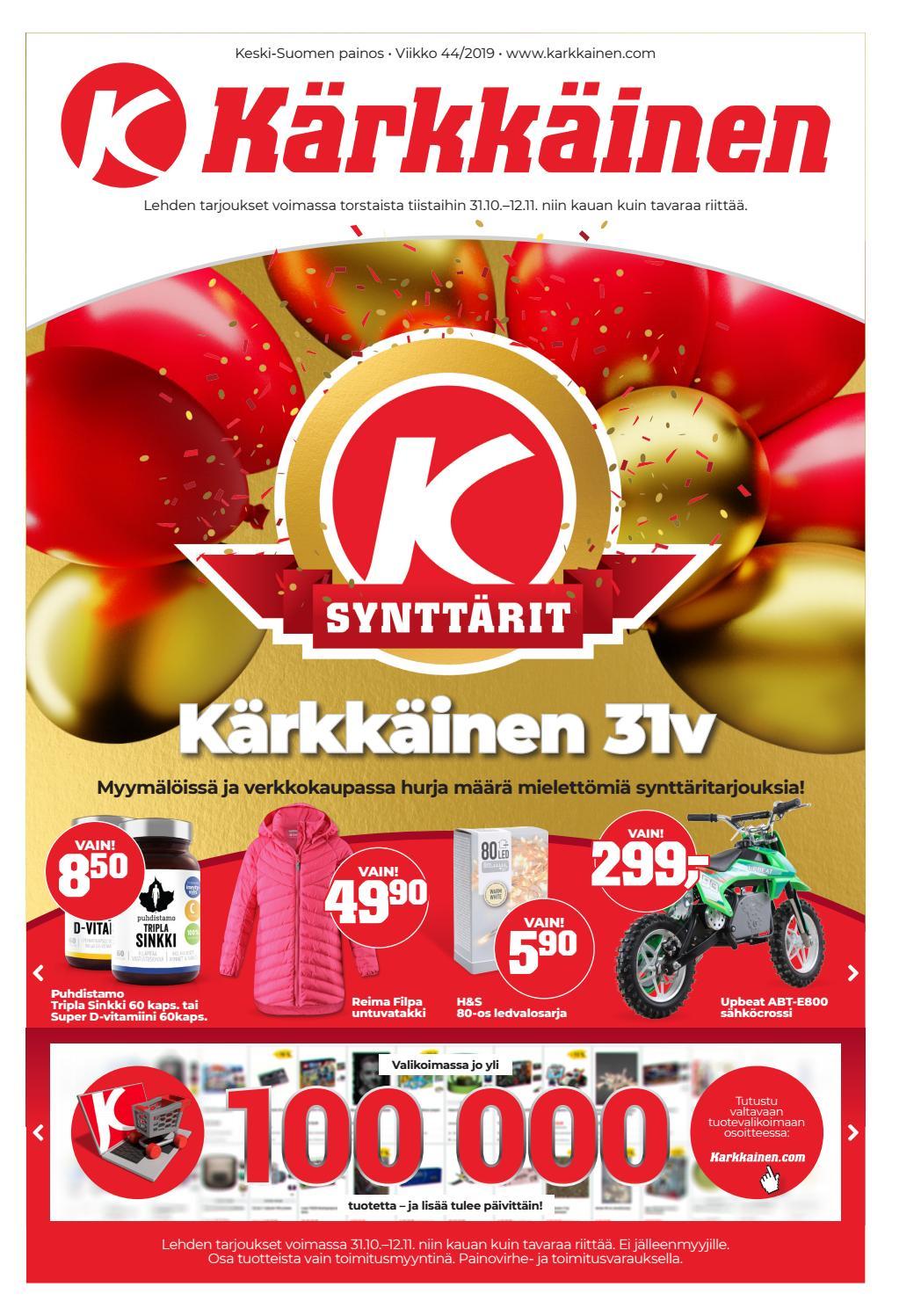 amazing price wide varieties huge inventory Kärkkäisen mainos 44/2019 (K-S) by Tavaratalo J. Kärkkäinen Oy - issuu