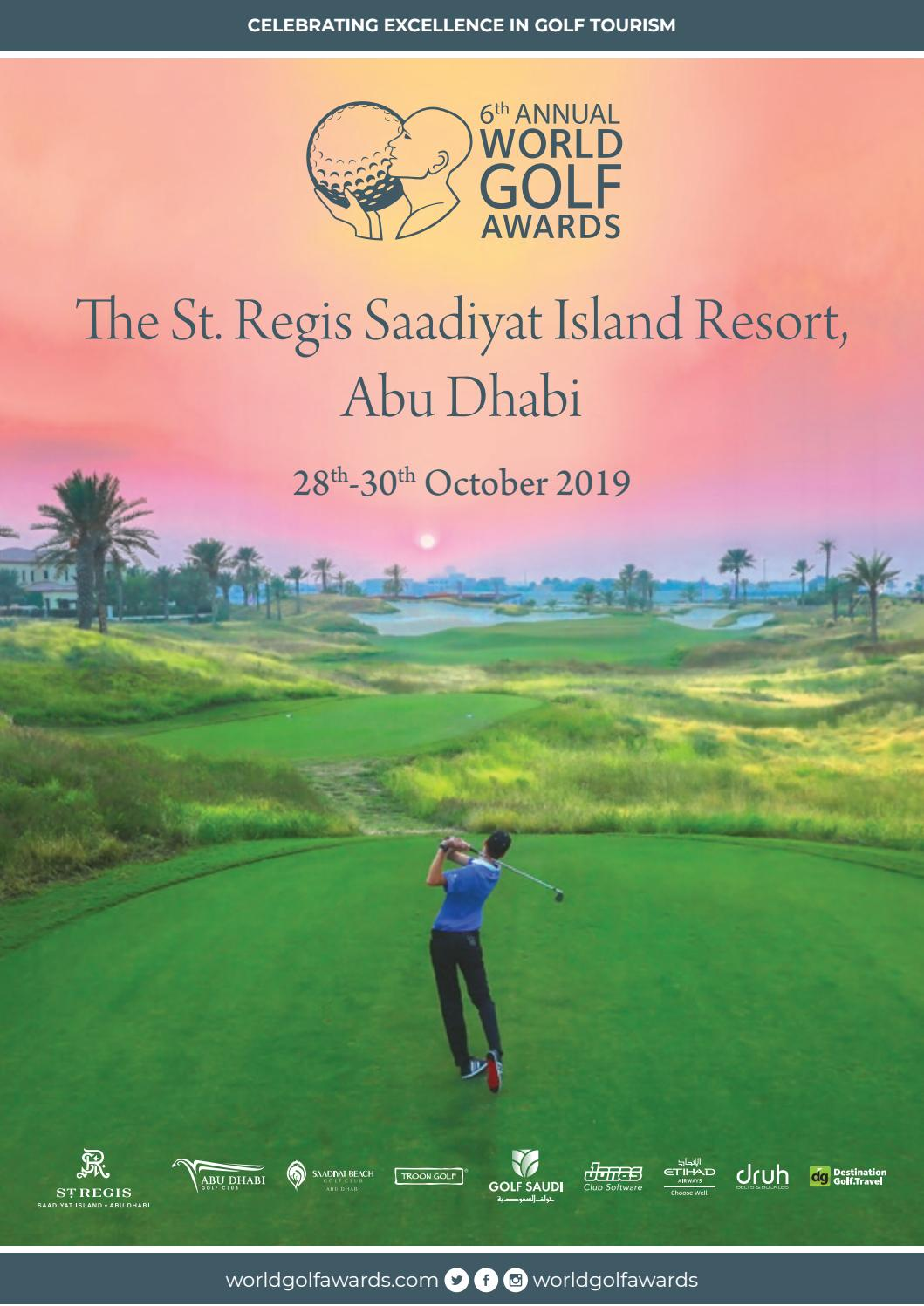 World Golf Awards 2019 event programme