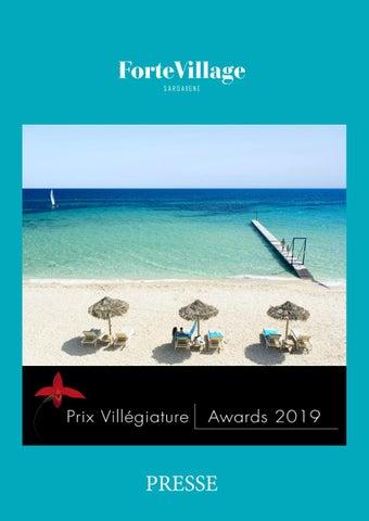 Presse Prix Villegiature Awards By Forte Village Issuu