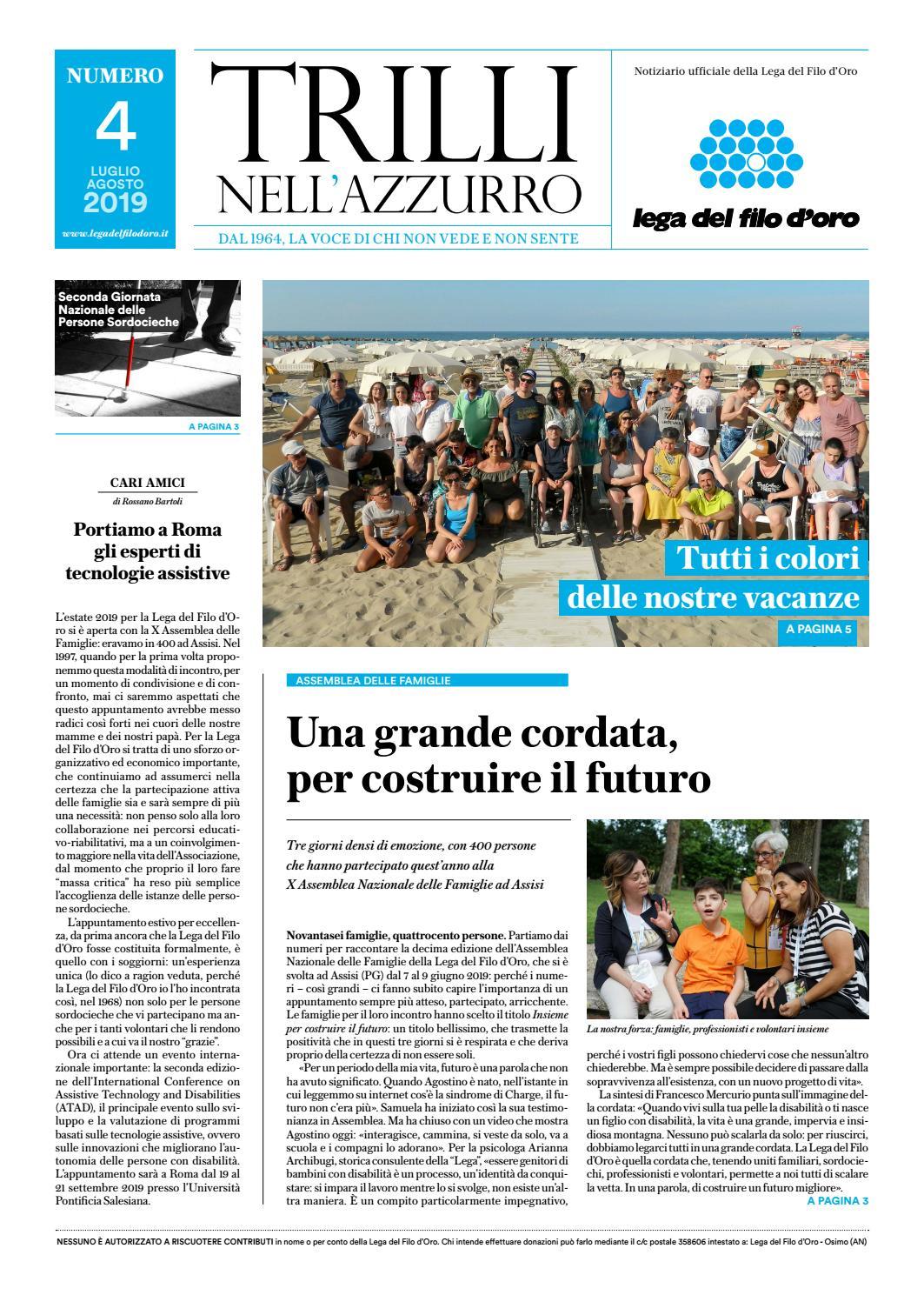 Trilli Nell Azzurro N 4 2029 By Lega Del Filo D Oro Issuu