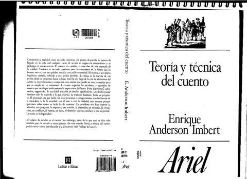 TEORIA Y PRACTICA DEL CUENTO. Enrique Anderson Imbert by AVENGERS ...