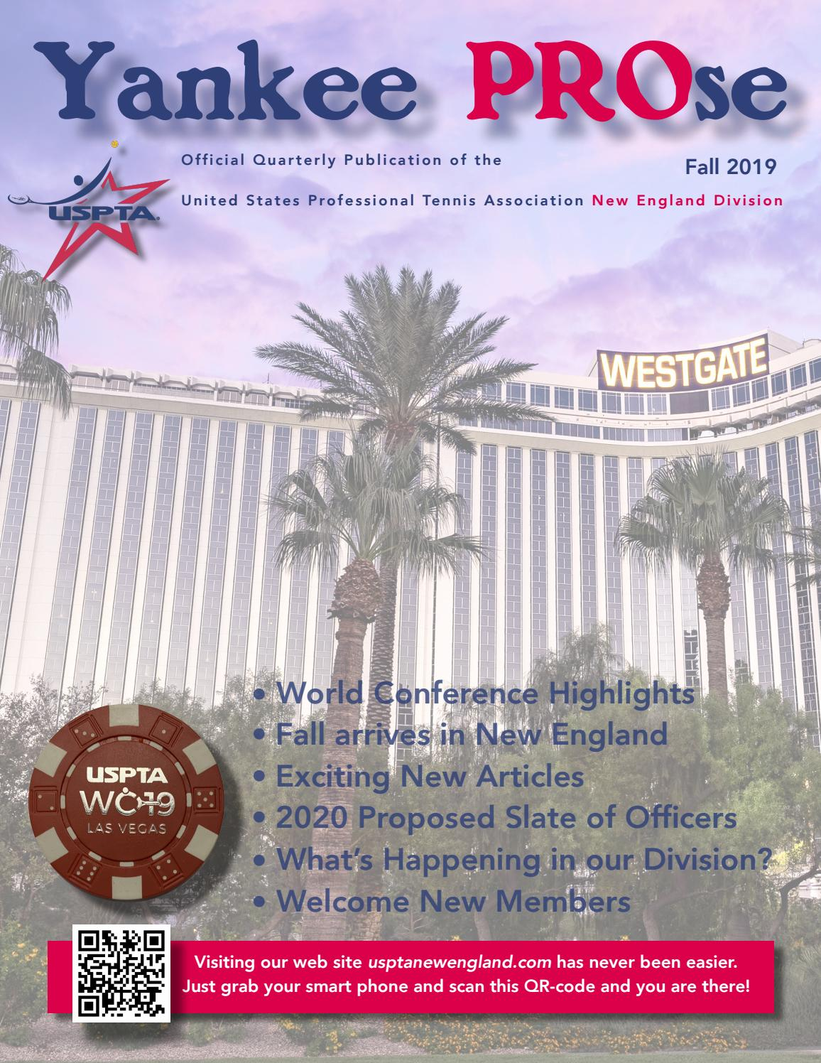 2020 Usta New England Sectional Events.Yankee Prose October 2019 By Uspta New England Issuu
