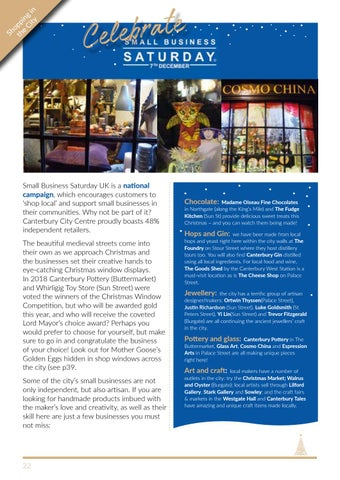 Page 22 of Celebrating Small Business Saturday