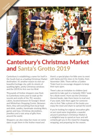 Page 38 of Canterbury's Christmas Market and Santa's Grotto 2019