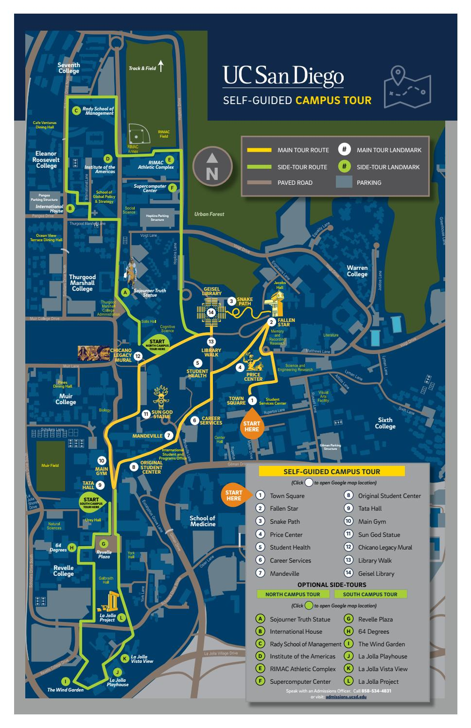 Uc San Diego Map UC San Diego Self Guided Tour Map by UC San Diego Admissions   issuu