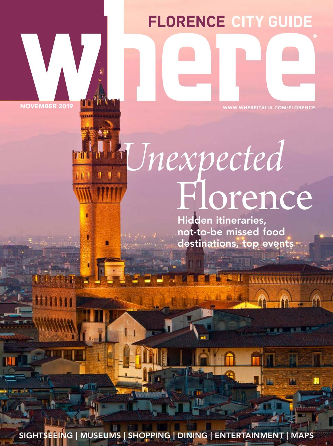 Where Magazine Florence Nov 2019 By Morris Media Network Issuu