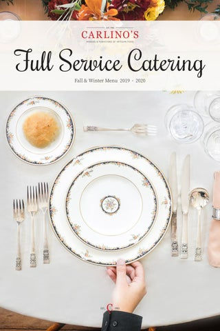 Carlino S Fall Winter Full Service Catering Menu By