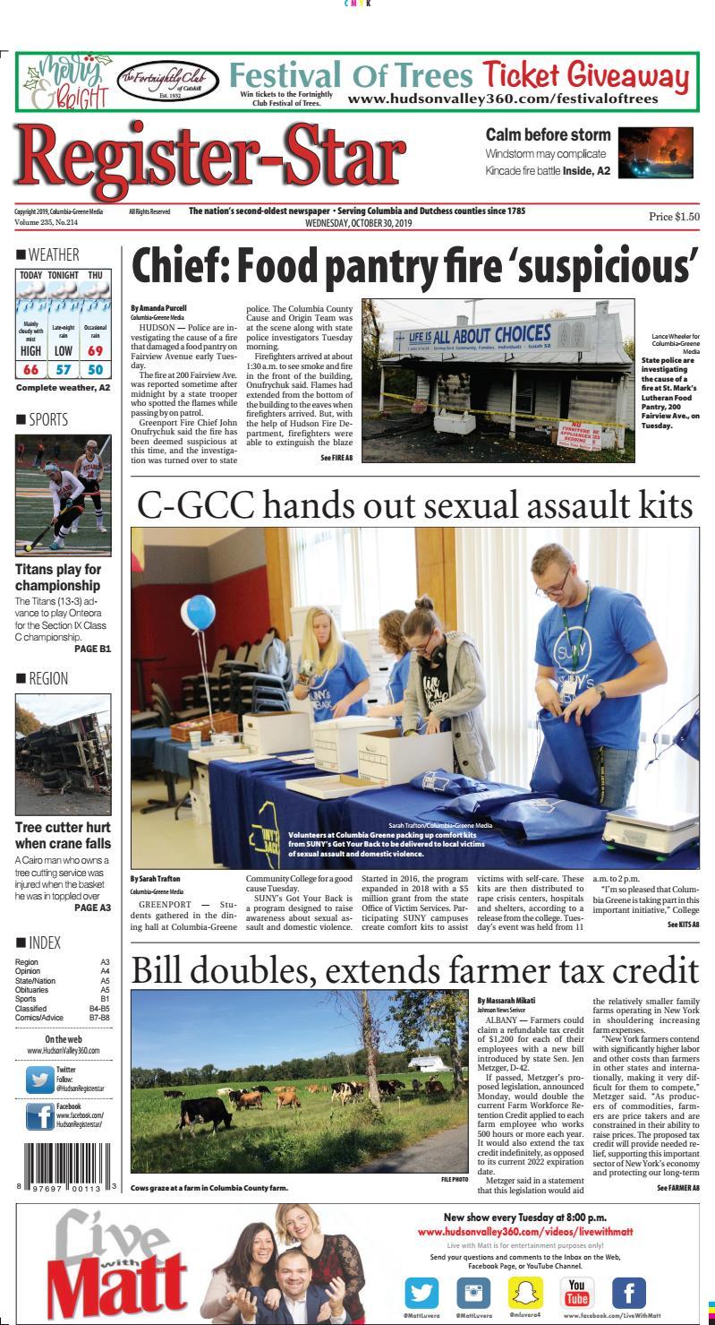 Eedition Register Star October 30 2019 By Columbia Greene Media Issuu