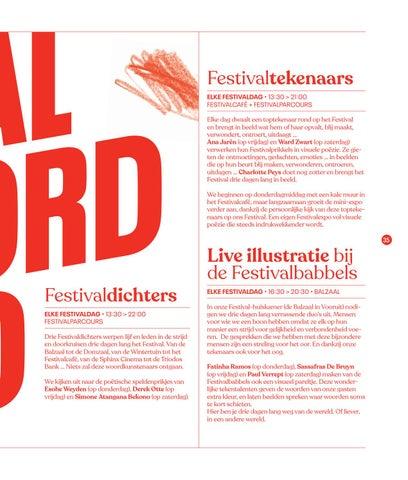 Page 37 of Festivaldichters, festivaltekenaars en live illustratie bij de festivalbabbels 'Festival van de Gelijkheid 2019'