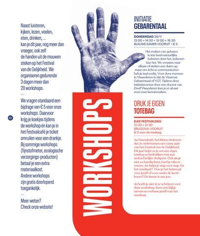 Page 54 of Workshops op Festival van de Gelijkheid 2019