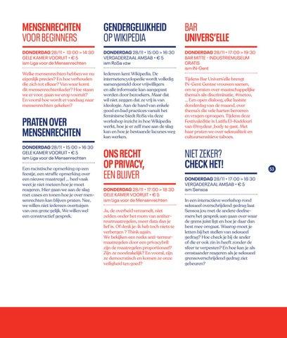 Page 55 of Workshops op Festival van de Gelijkheid 2019