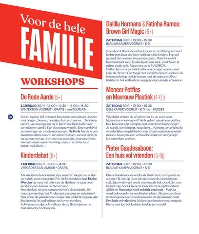 Page 58 of Familieprogramma Festival van de Gelijkheid 2019