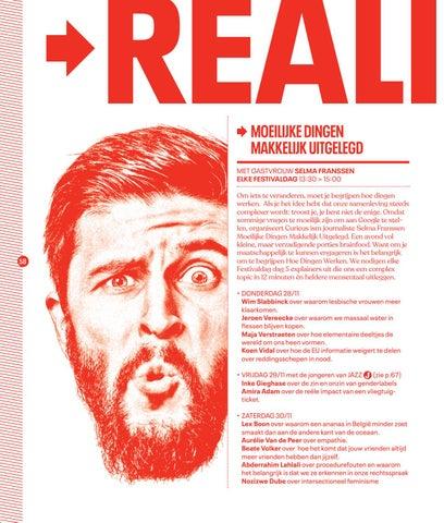 Page 60 of Reality Check  met Moeilijke dingen makkelijk uitgelegd, De Oplossingen, Factcheck en Het Dilemma op Festival van de Gelijkheid 2019