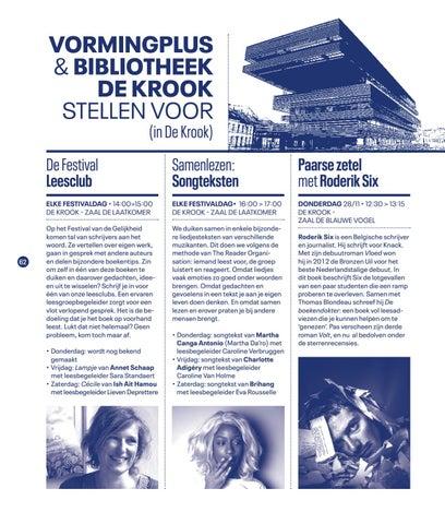 Page 64 of Vormingplus en Bibliotheek De Krook en Festival van de Gelijkheid 2019