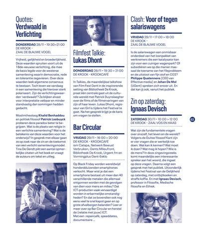 Page 65 of Vormingplus en Bibliotheek De Krook en Festival van de Gelijkheid 2019